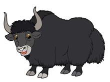 Cartoon Animal - Yak - Illustration For The Children