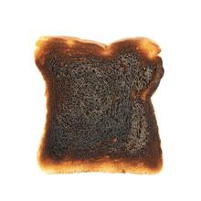 Burnt Toast Bread Isolated