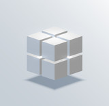 vector modern cube business background.