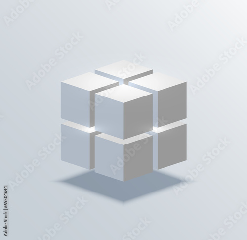 vector modern cube business background. Poster Mural XXL