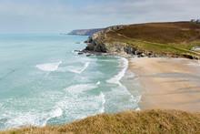Portreath Coast North Cornwall Between St Agnes And Godrevy