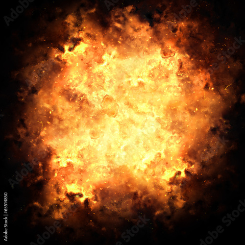 Fotografie, Tablou  Fiery Exploding Burst Background