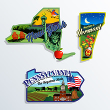 New York, Vermont And Pennsylv...