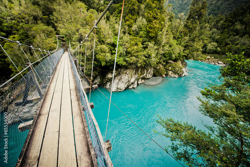 Photo Stands New Zealand Hokitika Gorge, Hokitika, New Zealand