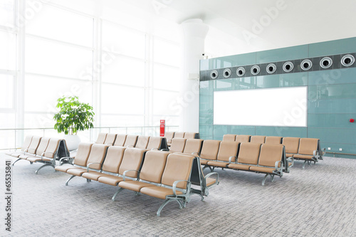 Foto op Aluminium Luchthaven modern airport terminal waiting room