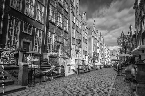 Architecture of Mariacka street in Gdansk, Poland - 65536655
