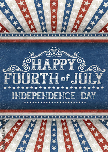 Fotografia  Fourth of july card