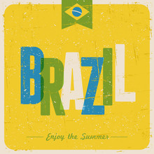 Retro Brazil Postcard