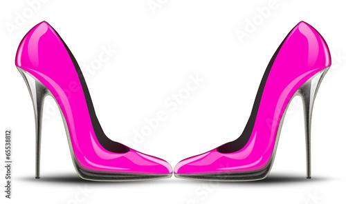 Fotografia pink high heel shoes