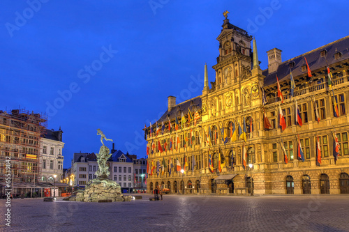 Poster Antwerp Antwerp City Hall, Belgium