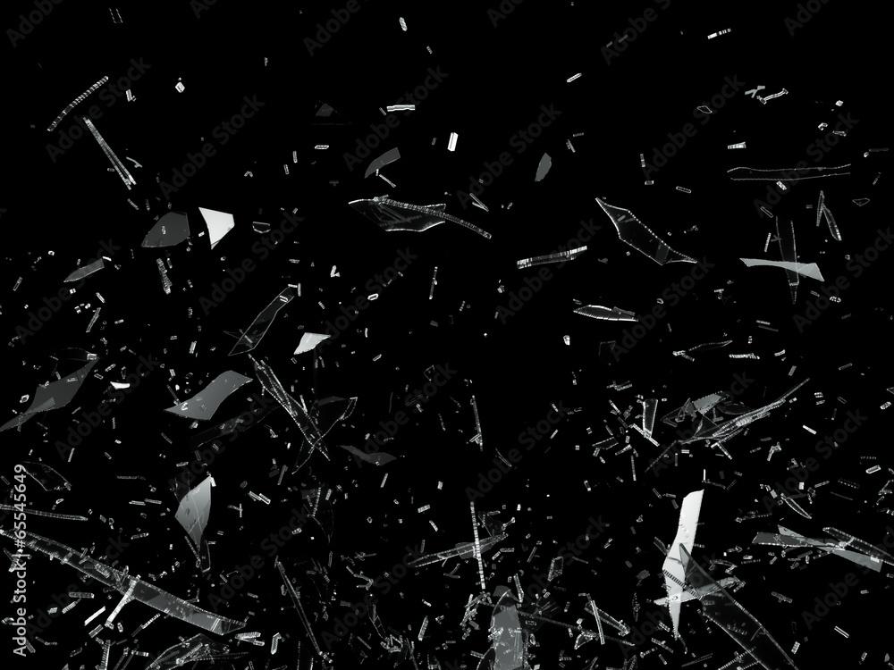 Fototapeta Pieces of Broken Shattered glass