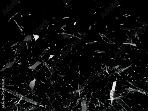 Pieces of Broken Shattered glass - fototapety na wymiar
