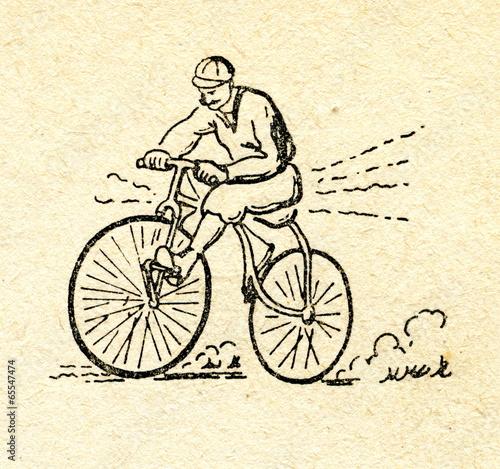 rowerzysta-vintage