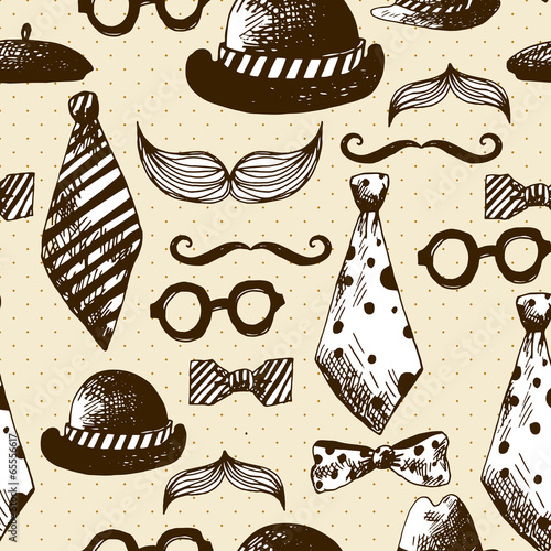 hand-drawn-hipster-seamless-background