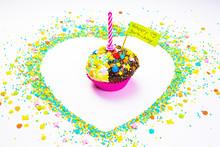 Birthday Cake Heart