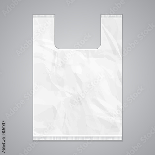 Disposable Plastic Bag Package Grayscale Template - Buy this stock ...