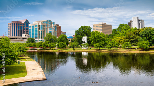 Obraz Cityscape scene of downtown Huntsville, Alabama - fototapety do salonu