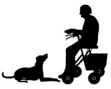 Alte Frau Mit Hund