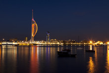 Portsmouth Waterfront At Night