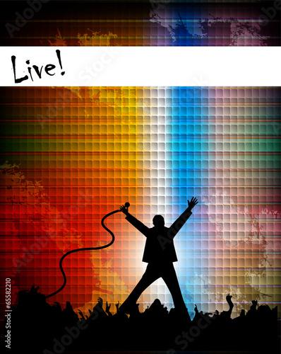 Fotografía  illustration of singer performing