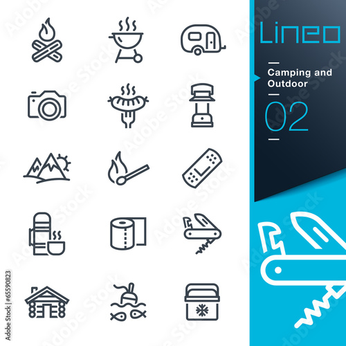 Fotografía  Lineo - Camping and Outdoor outline icons