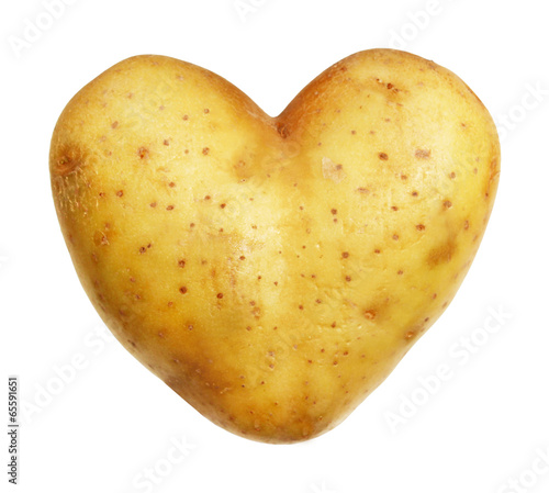 Pomme de terre en forme de coeur Fototapete