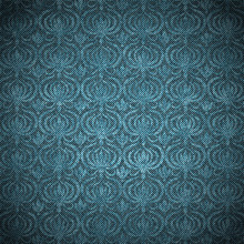 Shabby Denim With Floral Pattern, Vector Background