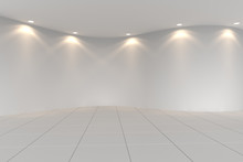 Curve White Empty Room