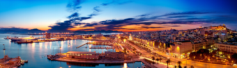 Panoramic view of Cagliari ...