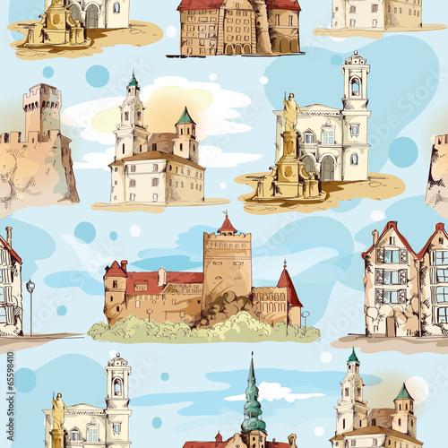 szkic-starego-miasta-wzor