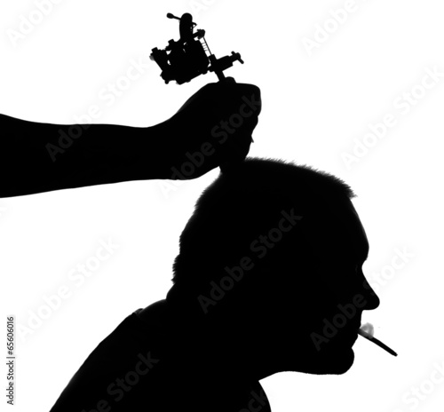 Recess Fitting Military Tattoo silhouette