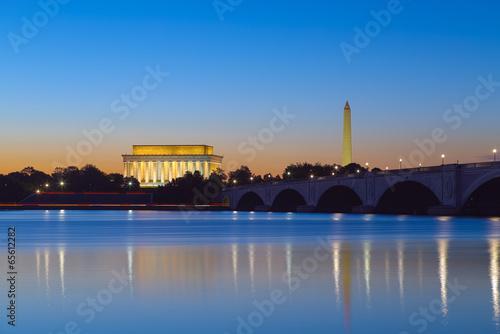 Fotografie, Obraz  Washington, DC - Monuments reflecting at twilight