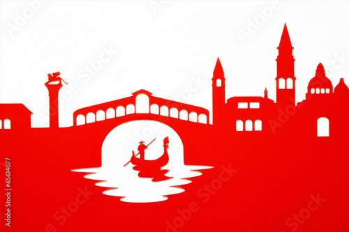 Fotografie, Obraz  Gondolier passing under the Rialto Bridge, Venice