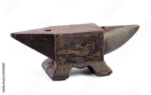 Photo Iron anvil for forging metal