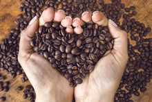 Heart Shaped Coffee Beans,hand...