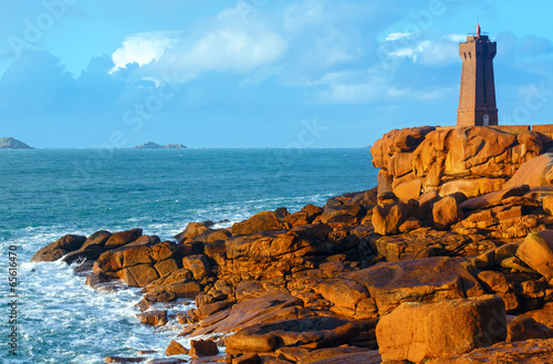 Ploumanach lighthouse (Perros-Guirec, Brittany, France) Wallpaper Mural