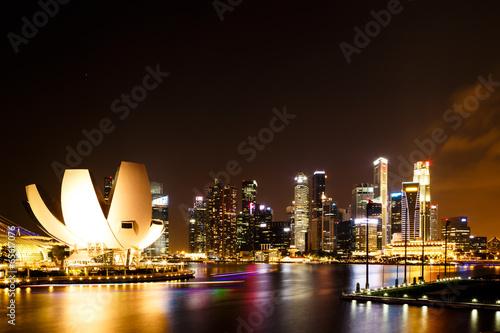 Singapore  marina bay  night Poster
