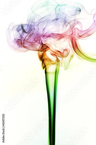 Tuinposter Abstract bloemen smoke of Joss stick