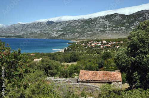 Kroatische Adriaküste Canvas Print