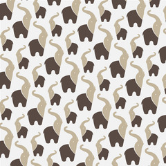 Panel Szklany Słoń Seamless wallpaper elephant.