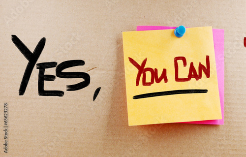 Photo  Yes You Can Concept