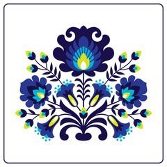 Fototapeta Folk papercuts - Flowers