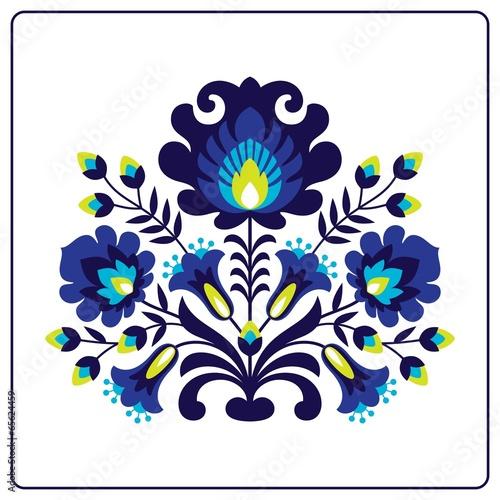 fototapeta na ścianę Wycinanki ludowe - Kwiaty