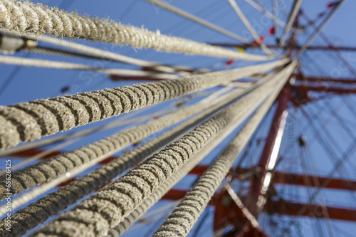 Tall ship rope rigging Canvas Print