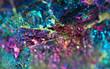canvas print picture - Nugget, colour metal. Macro. Extreme closeup