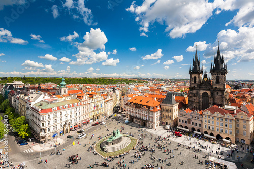 Old Town Square in Prague, Czech republic Wallpaper Mural