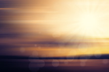 Abstract Sunset With Bokeh Lights