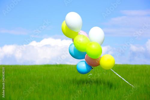 Foto op Plexiglas Groene balloons