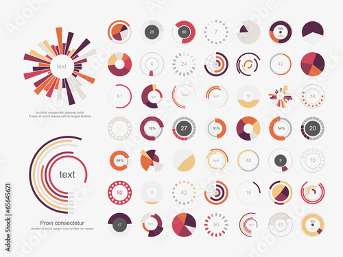Fotografie, Obraz  Infographic Elements.Pie chart set icon.