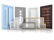 canvas print picture - Türen und Fenster